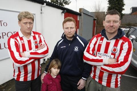 Homless: Steve Motteram, Daisy-May Ashford, Wayne Ashford and Paul Dunbauin from Sporting Galacticos. Picture: CRAIG ROSS