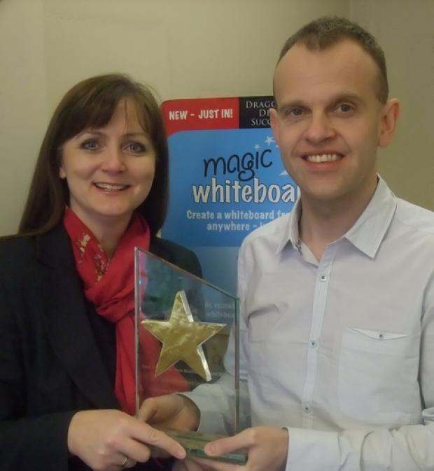 Project director Jacqui Morley with entrepreneur Neil Westwood.