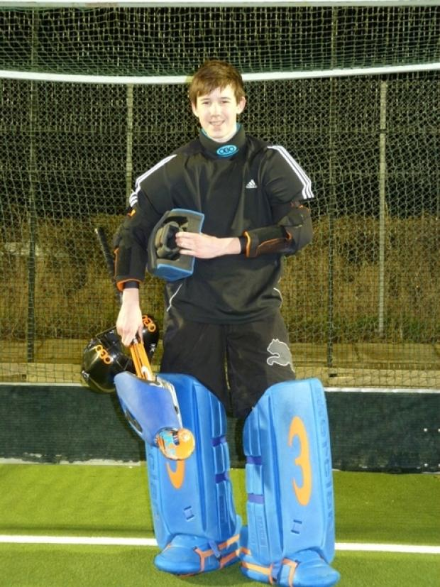 Ready for action: Matt Gill will represent Wales under-16s on Sunday.