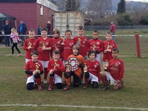Silverware success: Meadow Park under-10s won the Talbot Page-Jones Memorial Shield at the weekend.