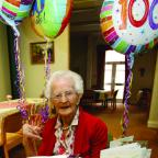 Anne Good celebrates her 100th birthday.