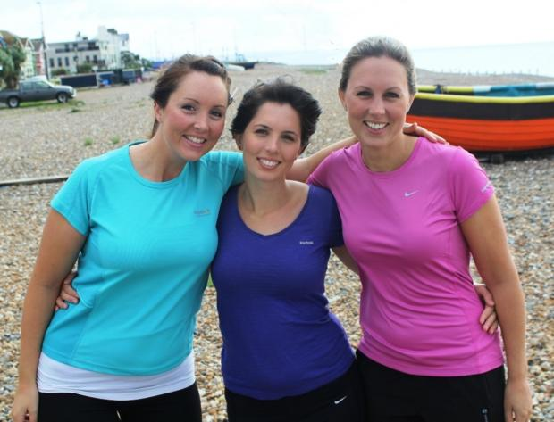 Sisters Sarah, Hannah and Zoe Jenkins will be running in the Birmingham half Marathon with their mum Liz.