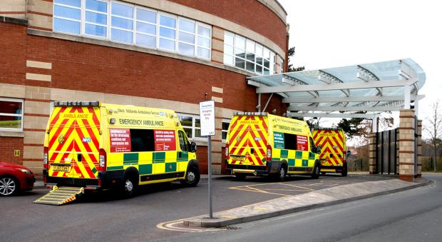 Droitwich Advertiser: Ambulances outside Worcestershire Royal Hospital