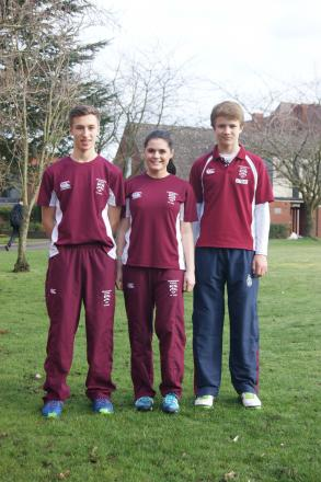 Captains James Taylor, Chloe Broomfield and Ben Turner.