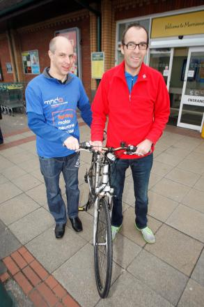 Ref. BCR071402Anthony Grater and Alan Fellows have completed a bike ride from Bromsgrove to raise money for charity. (3899230)