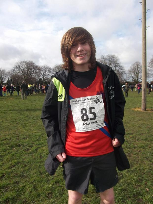 Droitwich Advertiser: Under-15s Champions: Bromsgrove and Redditch AC member Conor Smith won the West Midlands title.