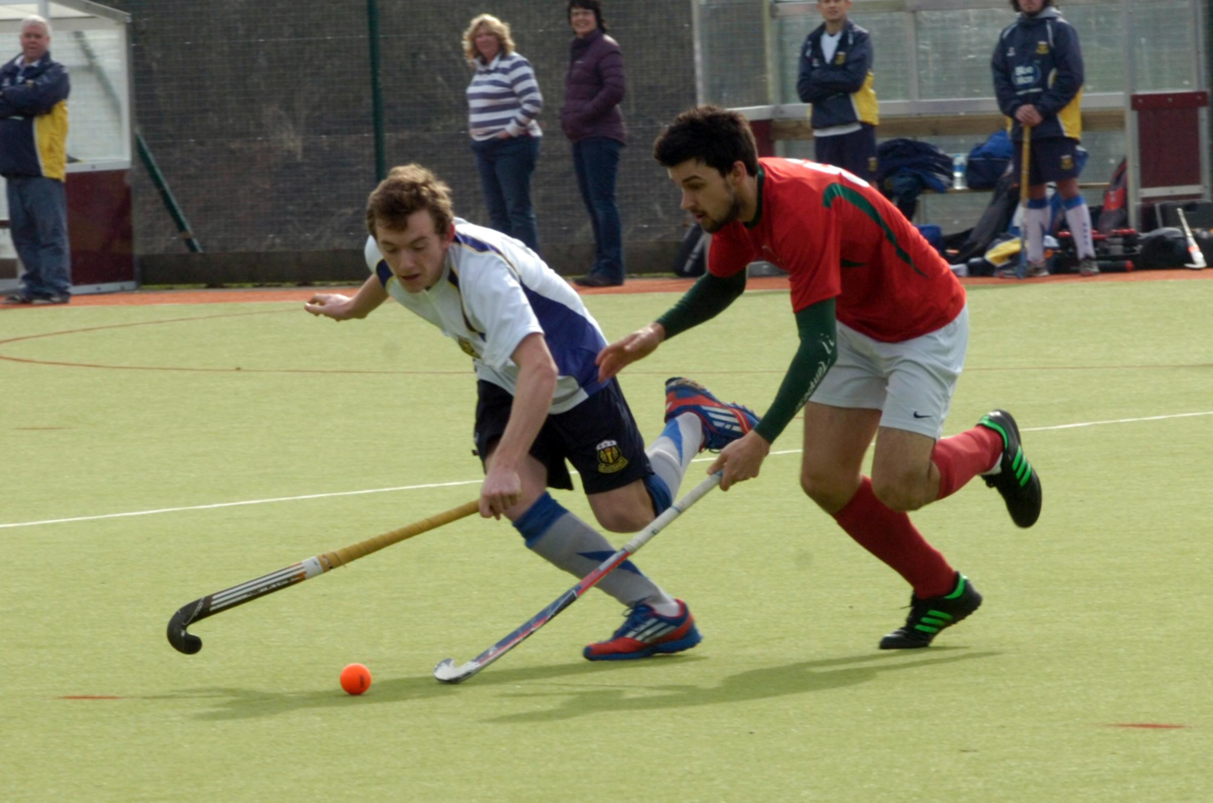 Action from Bromsgrove Men versus Solihull Blossomfield.  Picture: MARIE MY