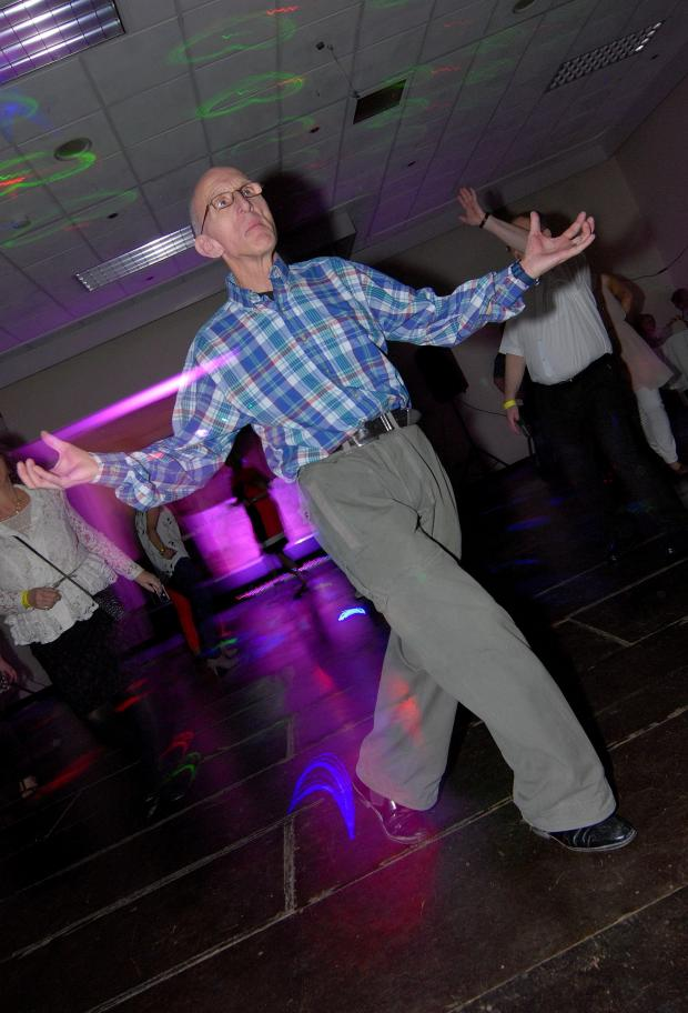 Droitwich Advertiser: Northern Soul all-dayer at the Chateau Impney Hotel, Droitwich. 65-year-old Ron Ferguson relives his youth on the Royal Suite dance floor. Picture by Nick Toogood. (4637918)