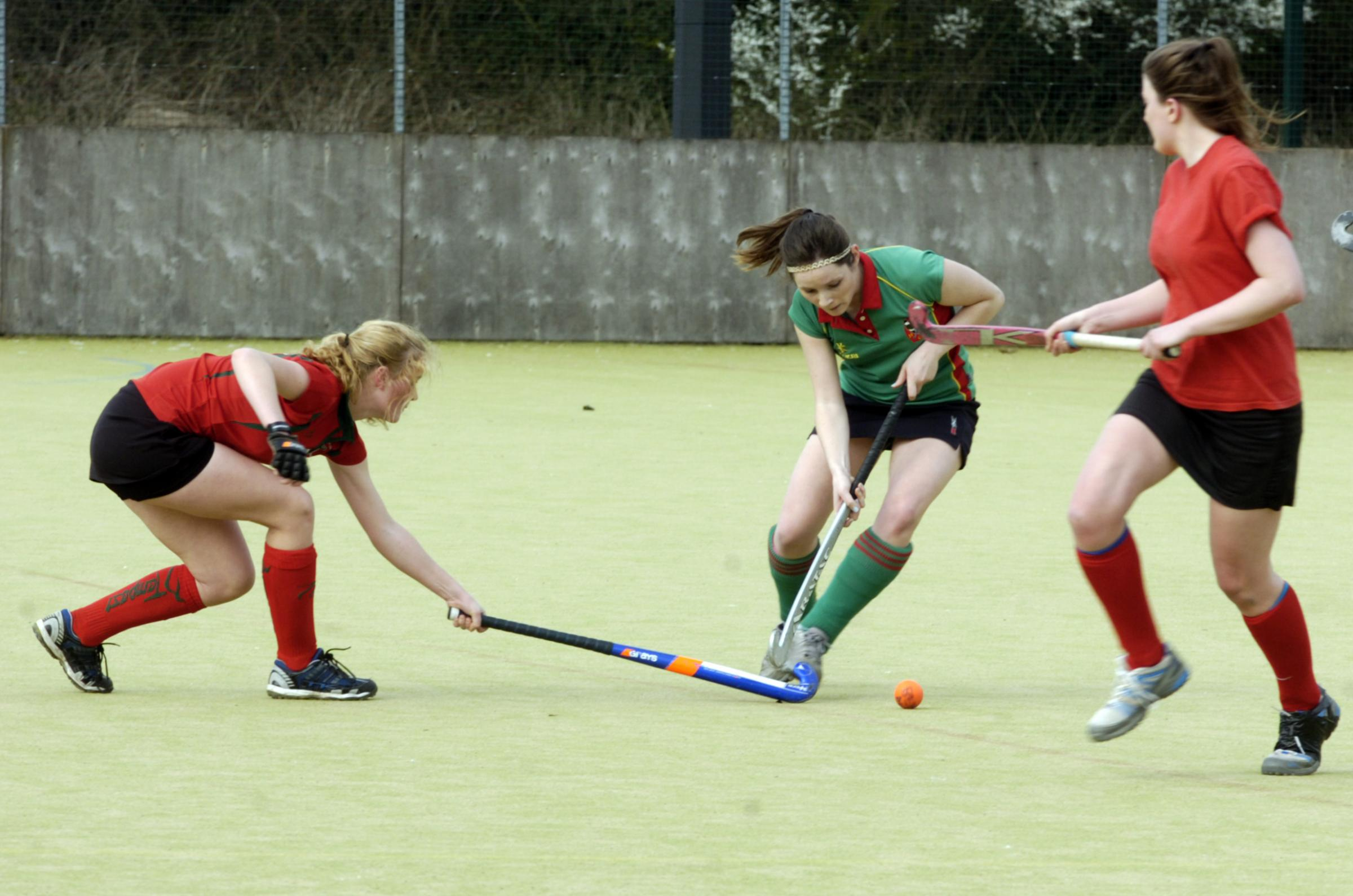 Action from Bromsgrove Ladies' top of the table clash with Harborne. Picture: MARIE MYERS