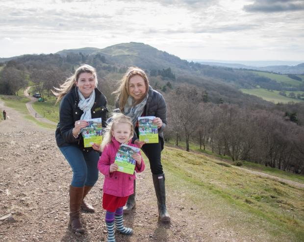 Lizzie Brazier, with Gemma Jenkinson, principal planning consultant of walk sponsors RCA Regeneration, and her daughter Daisy, from Whitford Hall and Dodderhill School, Droitwich who will be taking part in the walk. SP