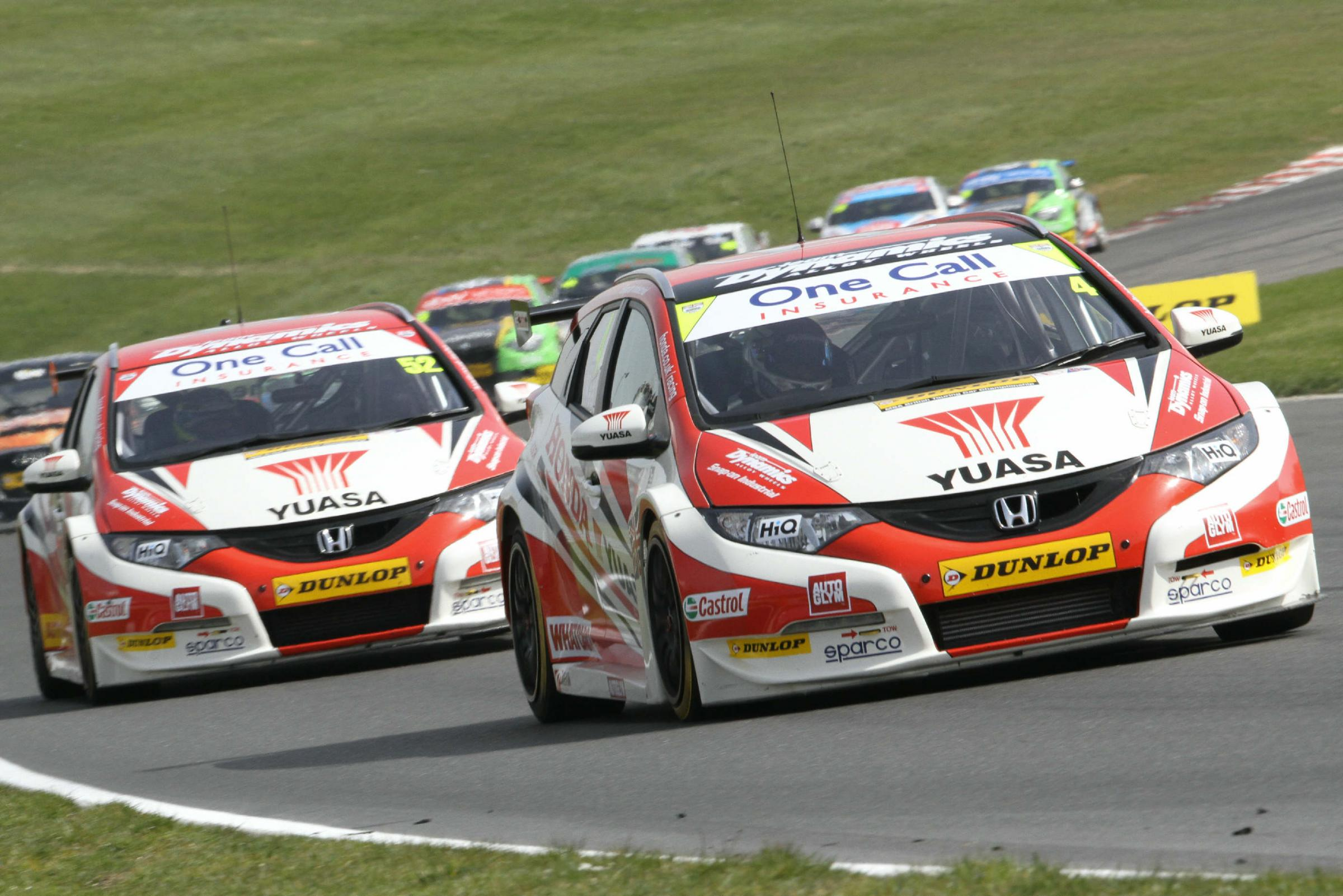 Matt Neal in action at Brands Hatch. Picture: DARREN PRICE