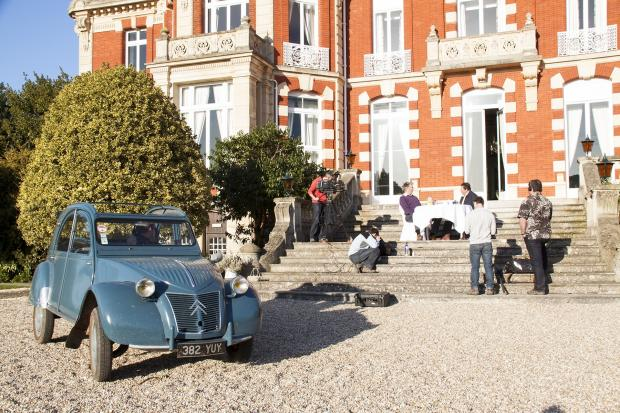 FIlming at Chateau Impney with the Citroen 2CV. SP