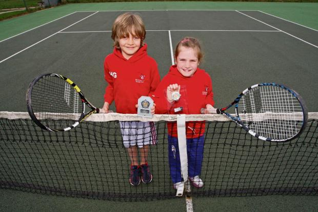 County stars: Freya Lawton and Harry Giles.