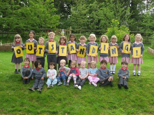 Dodderhill School celebrates its inspection results. SP
