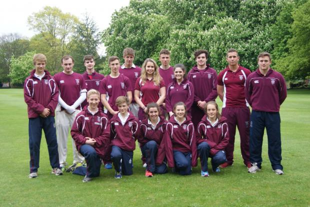 Captains fantastic: All of Bromsgrove School's captains line-up after their high national ranking.