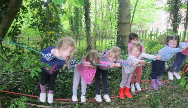 Droitwich Advertiser: TRIP TO THE WOODS: Youngsters from Dodderhill School have been taking a trip to the woods. SP