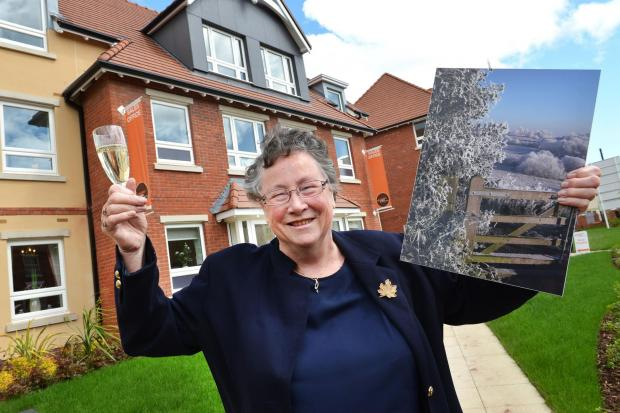 Droitwich Advertiser: Margaret Townley with her winning image at Horton Court in Droitwich. SP