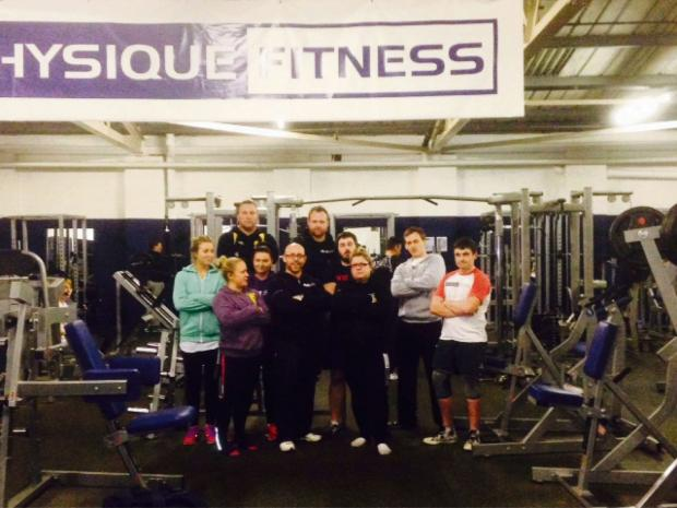 Power pack: The powerlifting squad from Physique Fitness are ready for the competition on Sunday.