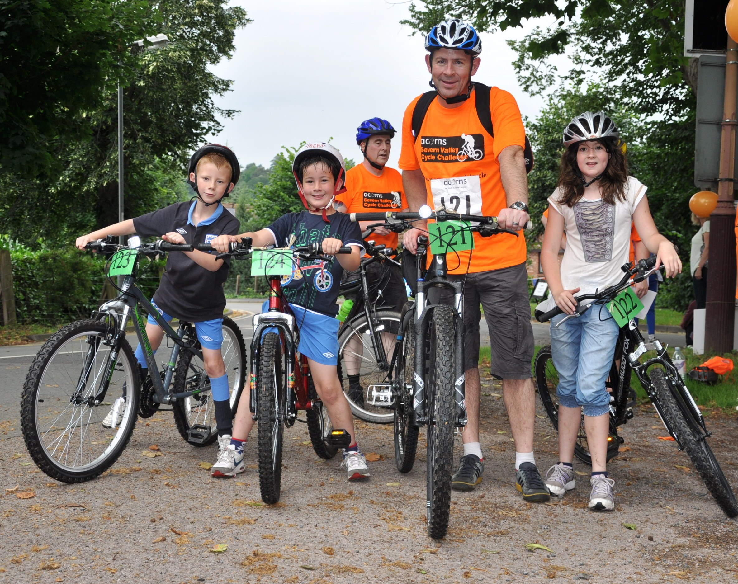 FAMILY CHALLENGE: The Price family from Solihull taking part in last year's Acorns Cycle Challenge.