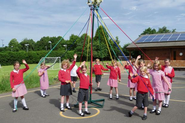 The children will be dancing round the Maypole in a school tradition dating back to the 19th century. SP