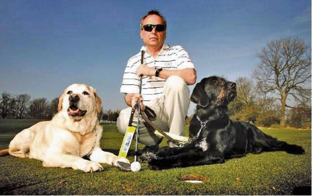 Droitwich Advertiser: Golfers are raising money for Guide Dogs for the Blind. SP