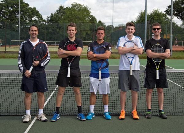 Droitwich Advertiser: Bromgrove Tennis Club's men's A team.