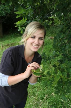 Dominique Cragg with some shield bugs on the farm. Image courtesy of Wendy Carter. SP