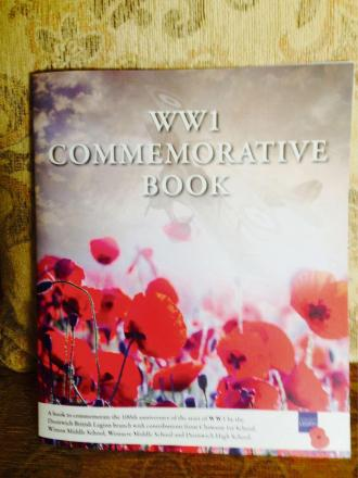 The poetry book which is raising money for the town's Poppy Appeal. SP