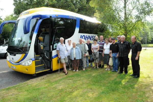 Bromsgrove Rotary Club holidaymakers prepare to set off on a trip to Blackpool.   Buy this photo BLB321402