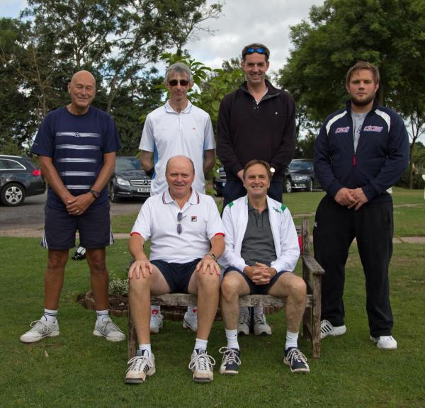 Bromsgrove's Men's C Team. Back row (left to right): Andy Hewston, Mark Blake, Tim Wright and C
