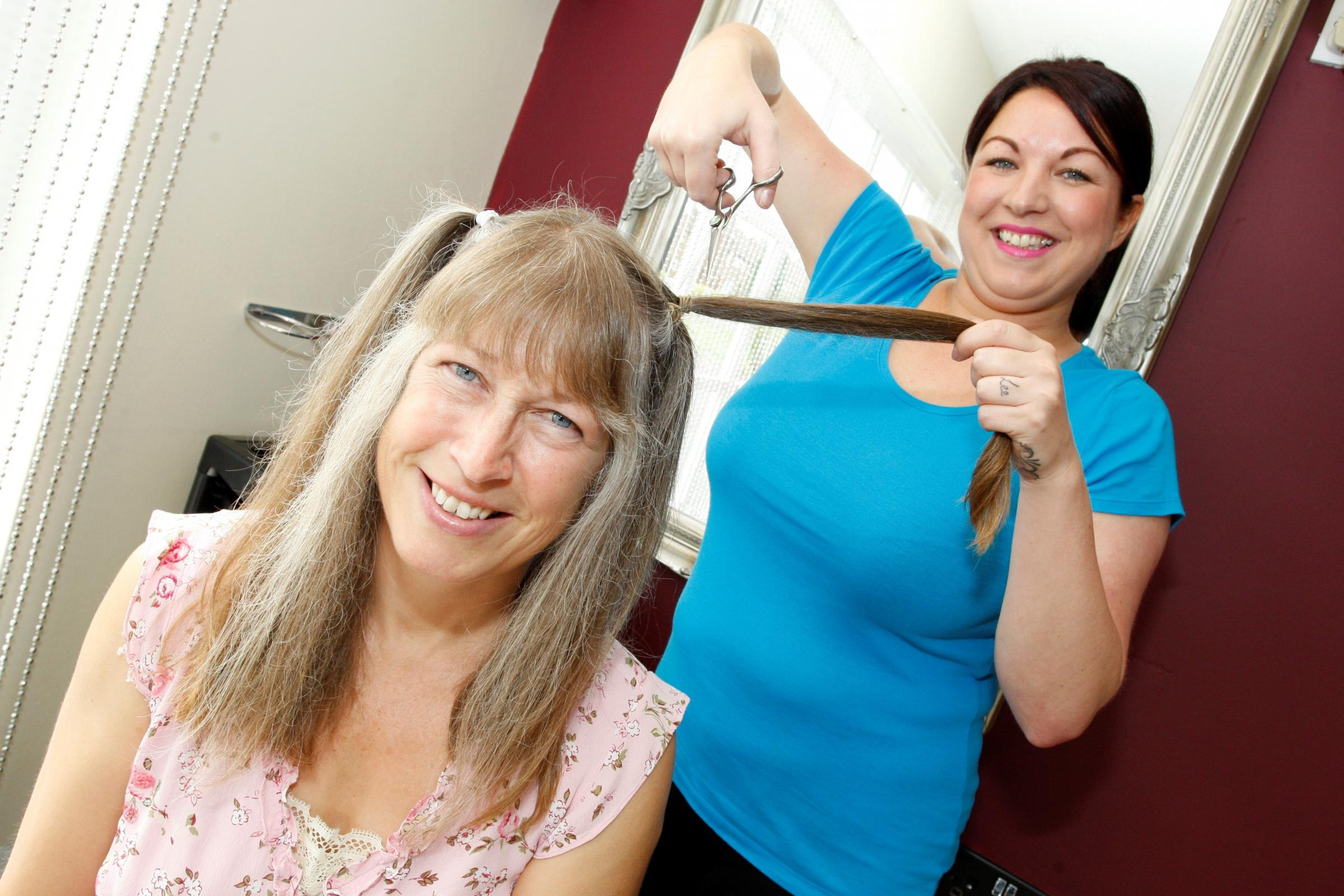 Droitwich woman crops hair for charity