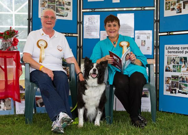 ANIMAL MAGIC: Janet Morgan from the Cinnamon Trust, with Sara Coward and Sunny the Collie. SP