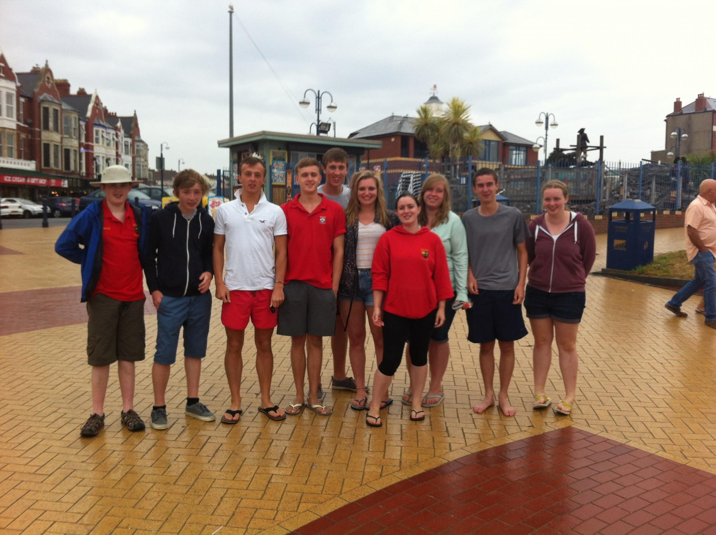 Members of the group on Barry Island. SP