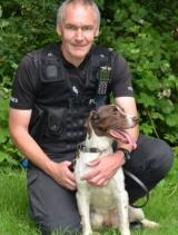Handler PC Andy Crouch with police dog Jake