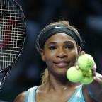 Droitwich Advertiser: Serena Williams must wait to see whether she reaches the semi-finals of the WTA Finals in Singapore (AP)