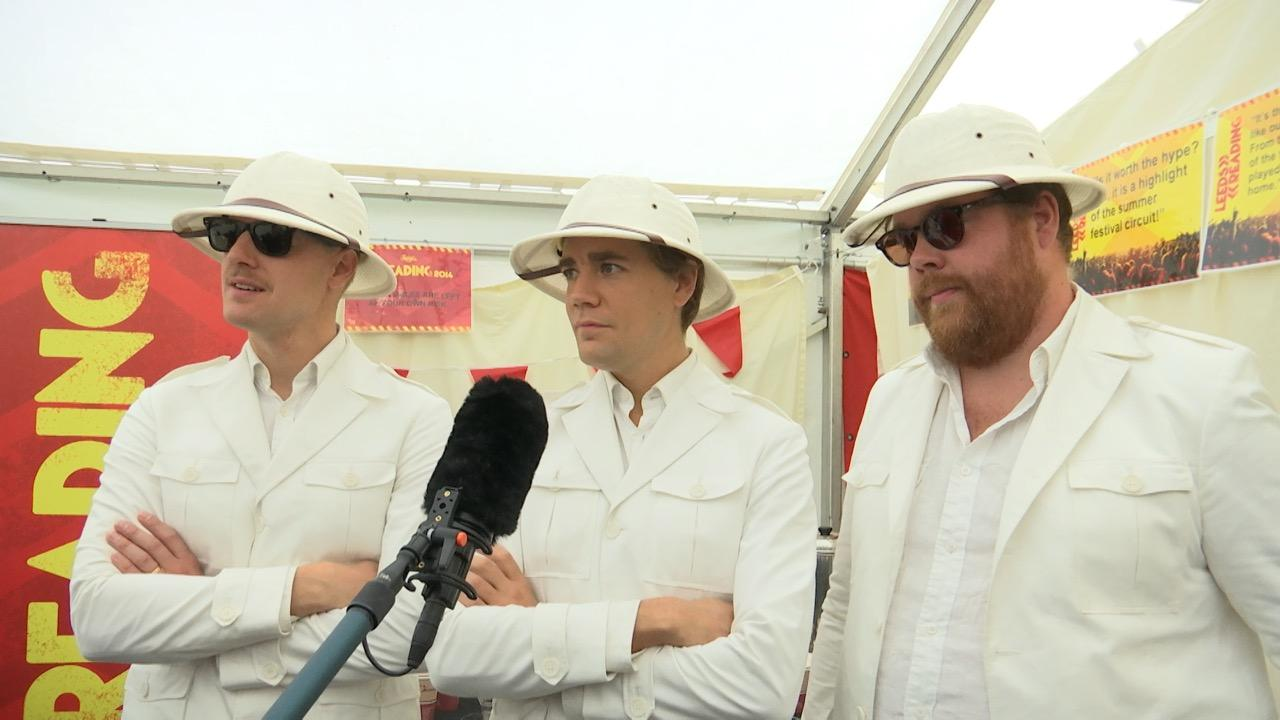 The Hives backstage for The Base Sessions