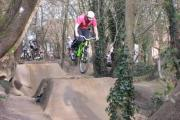 Chris Brown on the off road cycle track.
