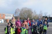 Youngsters taking part in the litter pick. SP (21782725)