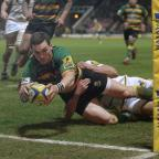 Droitwich Advertiser: George North scored two tries before going off with a head injury