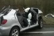 The scene of the crash. Photograph from West Midlands Ambulance Service.