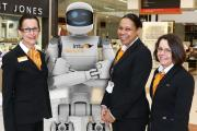 RoboShop with his new Merry Hill colleagues.