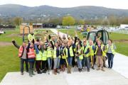 READY: Spades at the ready, the garden design teams kick off RHS Malvern Spring Festival