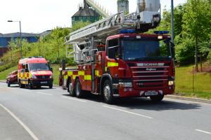 Firefighters attend crash involving two vehicles at Droitwich M5 junction
