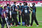 Jonathan Barry's action pictures as Worcestershire bowled to Northamptonshire.