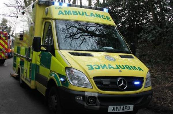 Man taken to hospital following fire involving five acres of dried grass
