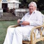 Droitwich Advertiser: Sir Edward Heath pictured in 1989 in the garden of his home in Salisbury (AP)