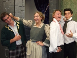 Hagley Theatre Group's Youth Section performers Matthew Smith, Isobel Nicholl, Jonathan Shariat and Christian Truslove.