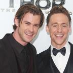 Droitwich Advertiser: See pictures of Chris Hemsworth and Tom Hiddleston reuniting as Thor and Loki