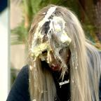 Droitwich Advertiser: Aubrey O'Day and Bear in explosive showdown over custard pie fight in Celebrity Big Brother