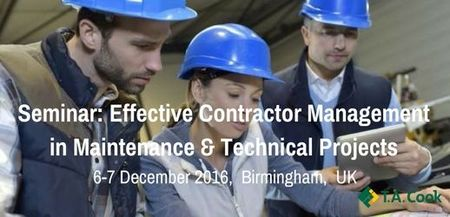 Effective Contractor Management in Maintenance and Technical  Projects